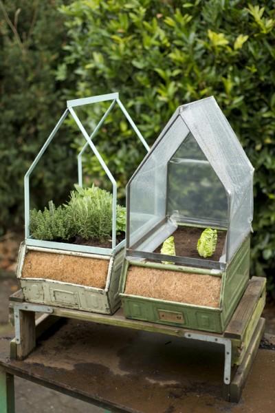 anzuchtkiste mit gew chshaus outdoor pflanzgef e. Black Bedroom Furniture Sets. Home Design Ideas
