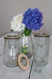 Blütendeckel mit Glaseinsatz