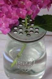Blütendeckel mit Wunschgravur