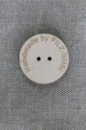 Knopf aus Vollholz