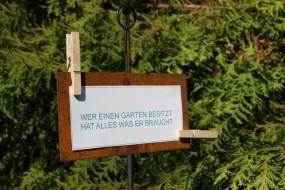 Gartenschild Quer mit 2 Klammern
