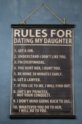 Banner: Rules for dating my daughter