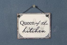 Schild: Queen of the kitchen