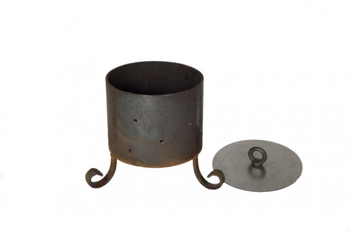 kleiner feuertopf mit deckel fackelschalen feuerk rbe zubeh r garten. Black Bedroom Furniture Sets. Home Design Ideas