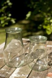 Glas für Laterne: Einmachgläser