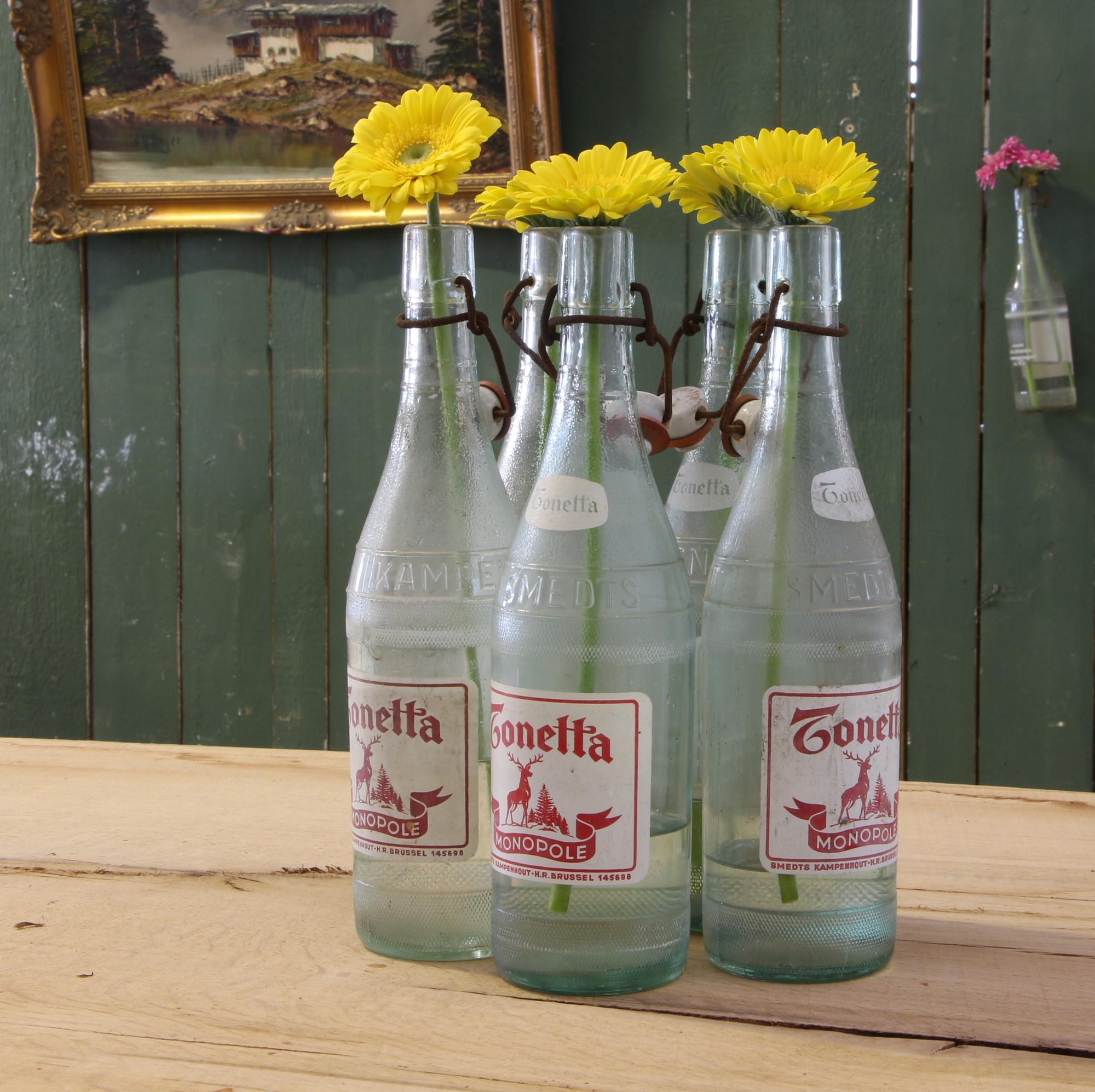 """Alte Limonadenflaschen """"Tonetta"""" - 5 Stück"""