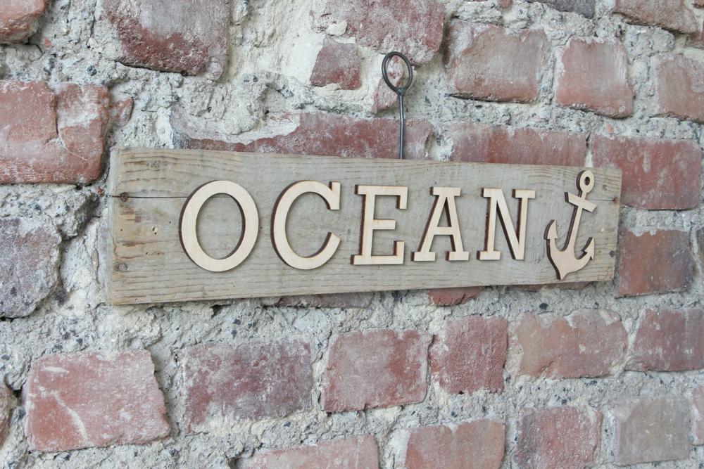 """Schild """"OCEAN"""" mit Anker -VERKAUFT-"""