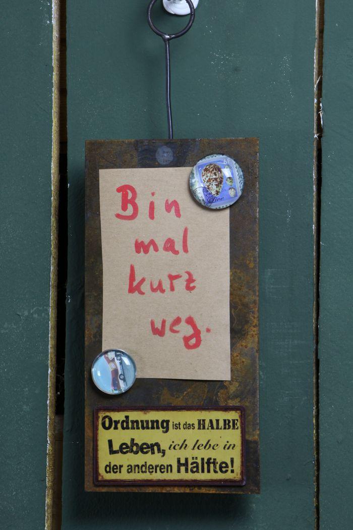 """Langes Schild """"senkrecht mit 2 Klammern"""""""