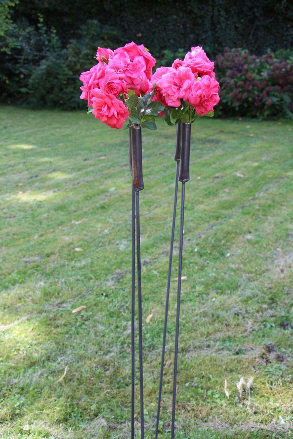 """Outdoorvase """"Gartenstecker"""" 3er Set"""