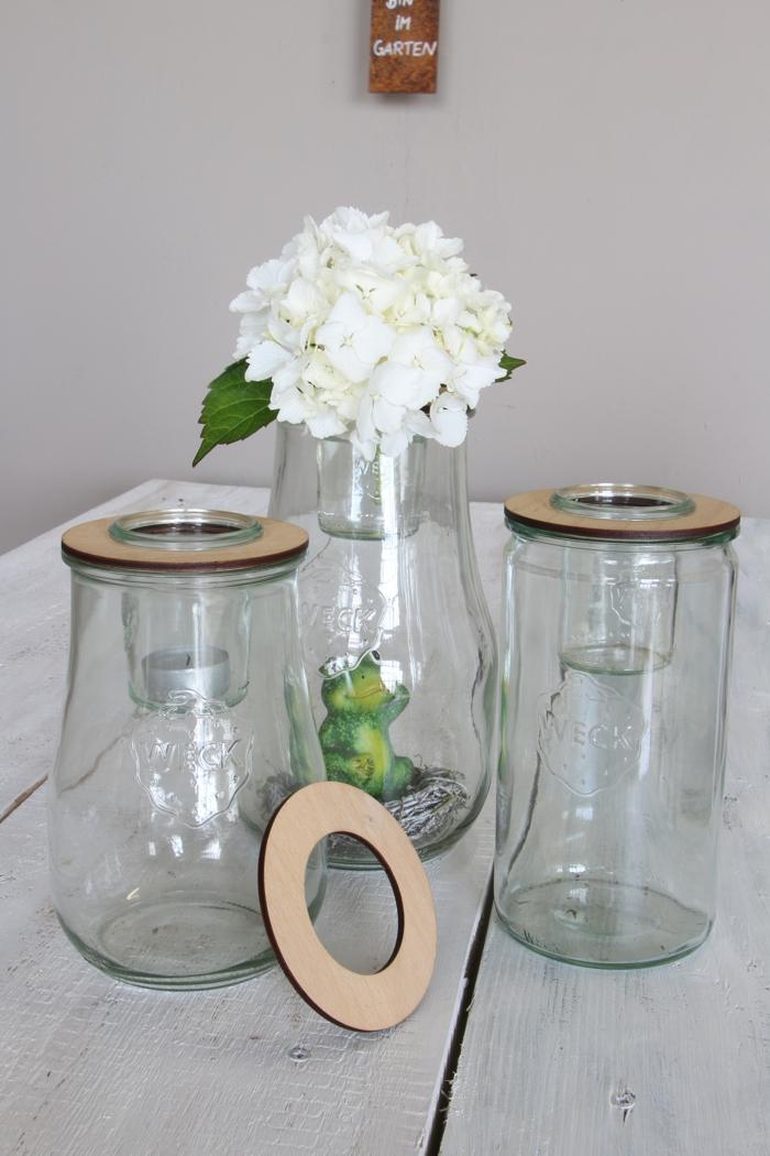 Blütendeckel für Mini-Einkochgläser